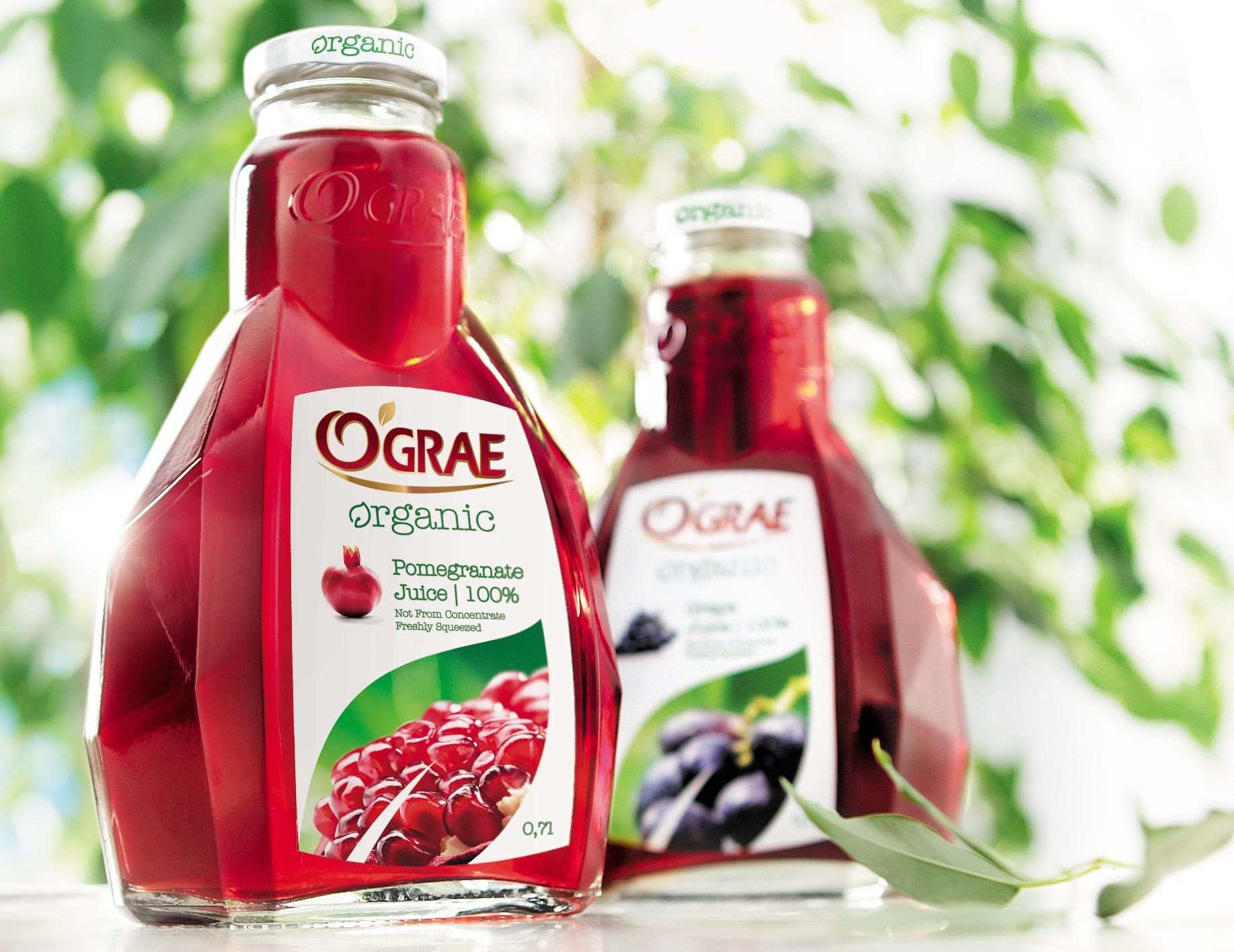 Дизайн упаковки в Москве - органический 100% натуральный гранатовый сок