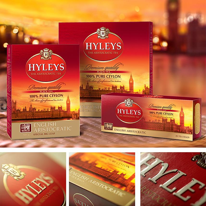 Создание дизайна упаковки чая Hyleys в Москве