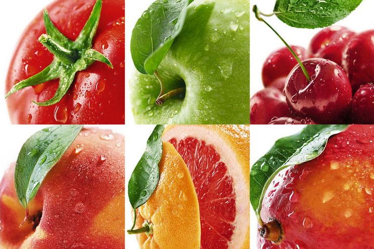 Процесс дизайна упаковки сока Rich - фрукты